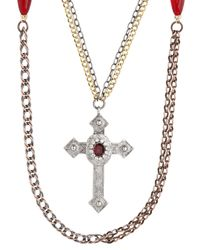 Gabriele Frantzen | Brown Cross Grasse Gold Necklace | Lyst