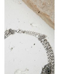Forever 21 | Metallic Etched Chain Choker | Lyst
