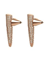 Eddie Borgo - Pink Mini Spike Pavé Earrings - Lyst