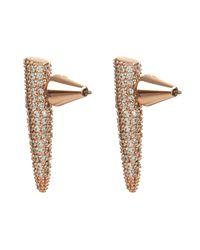 Eddie Borgo | Pink Mini Spike Pavé Earrings | Lyst