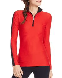 Lauren by Ralph Lauren | Red Stretch-mesh Pullover | Lyst