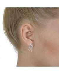 V Jewellery | Metallic Cascade Mono Earring | Lyst