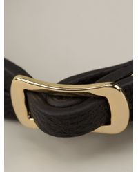 McQ - Black Buckled Bracelet - Lyst