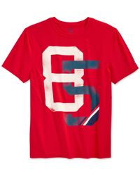 Tommy Hilfiger | Red Graphic T-shirt for Men | Lyst