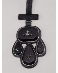Vivienne Westwood | Black 'lakshmi' Pendant Necklace | Lyst