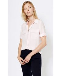 Equipment | Pink Short Sleeve Slim Signature | Lyst