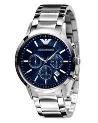Emporio Armani | Gray Men's Stainless Steel Bracelet Ar2448 for Men | Lyst