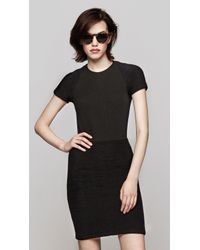 Opening Ceremony | Black Warren Short Sleeve Mini Dress | Lyst