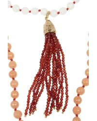 Rosantica - Orange Himalaya Set Of Two Golddipped Agate Necklaces - Lyst