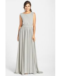 Paper Crown - Gray By Lauren Conrad 'Tori' Crepe Gown - Lyst