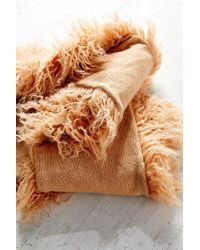 Urban Outfitters | Brown Mongolian Faux Fur Collar Scarf | Lyst