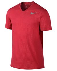 Nike - Red Cool Dri-fit V-neck Training T-shirt for Men - Lyst