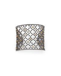 Alexis Bittar - Gray Crystal Cuff Bracelet - Lyst