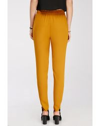 Forever 21 - Yellow Soft Woven Drawstring Pants - Lyst