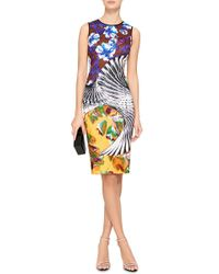 Clover Canyon - Yellow Floral Printed Tank Dress - Lyst