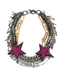 Venna - Metallic Necklace - Lyst