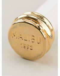 Malibu 1992 | Metallic Column Shape Earrings | Lyst