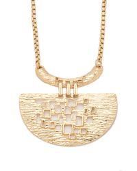 Trina Turk - Metallic Cutout Pendant Necklace - Lyst