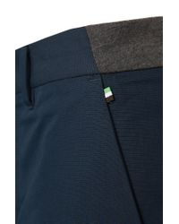 BOSS Green - Blue Regular Fit Cotton Chinos 'lautner 1' With Sweat Detailing for Men - Lyst