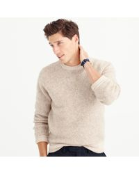 J.Crew | Natural Wallace & Barnes Wool Contrast Trim Sweater for Men | Lyst