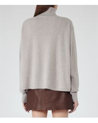 Reiss | Gray Zoya Cashmere Roll-neck Jumper | Lyst