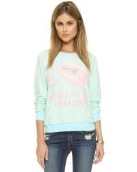 Wildfox | Blue Bridesmaid On Call Sweatshirt | Lyst