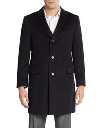 Saks Fifth Avenue | Black Slim-fit Cashmere Coat for Men | Lyst