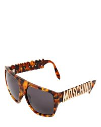 Moschino - Multicolor Logo Lettering Sunglasses - Lyst