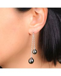 Black.co.uk | Miranda Tahitian Black Pearl Drop Earrings | Lyst