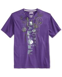 Sean John | Purple Big And Tall Done That T-shirt for Men | Lyst