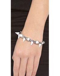 Joomi Lim - Metallic White Out Double Row Spike Bracelet - Lyst