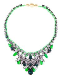 Shourouk - Green Mini 'theresa' Necklace - Lyst
