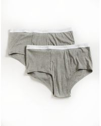 Calvin Klein | Gray Big And Tall 2 Pack Briefs for Men | Lyst