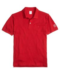 Brooks Brothers - Red Cornell University Slim Fit Polo for Men - Lyst