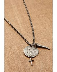 Forever 21 | Metallic Men Ettika Disc And Italian Horn Chain Necklace for Men | Lyst