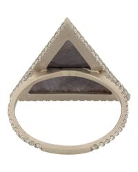 Monique Pean Atelier - White Diamond & Sapphire Ring - Lyst