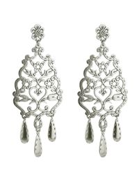 Laurent Gandini | Metallic Three Drops Chandelier Earring | Lyst