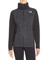 The North Face - Gray 'indi' Fleece Jacket - Lyst