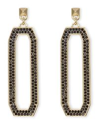 Rebecca Minkoff | Metallic Gold-Tone Linked Earrings | Lyst