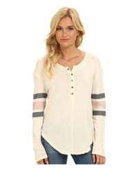 Free People - Pink Game Time Henley - Lyst