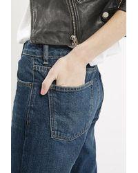 TOPSHOP | Blue Moto Milo Rigid Skinny Jeans | Lyst