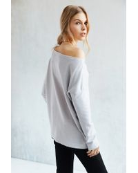 Truly Madly Deeply - Gray Jennie Off-the-shoulder Sweatshirt - Lyst