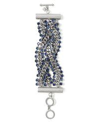 Banana Republic | Metallic Braided Chain Line Bracelet | Lyst