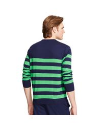 Ralph Lauren - Green Pima Cotton Crewneck Sweater for Men - Lyst