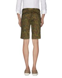 PT01 - Green Bermuda Shorts for Men - Lyst