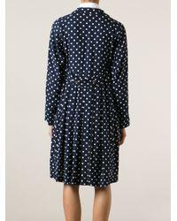 Comme des Garçons - Blue Lightweight Polka Dot Coat - Lyst