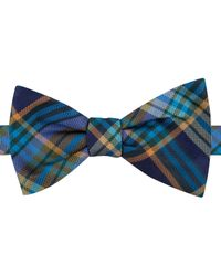 Tommy Hilfiger | Blue Oxford Tartan To-tie Bow Tie for Men | Lyst