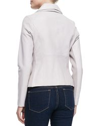 Bagatelle - Gray Orchid Leather Jersey Jacket - Lyst