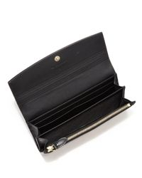 Burberry - Black Porter Horseferry Check & Leather Continental Wallet - Lyst