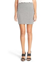 Trouvé | Black Stripe Knit Miniskirt | Lyst
